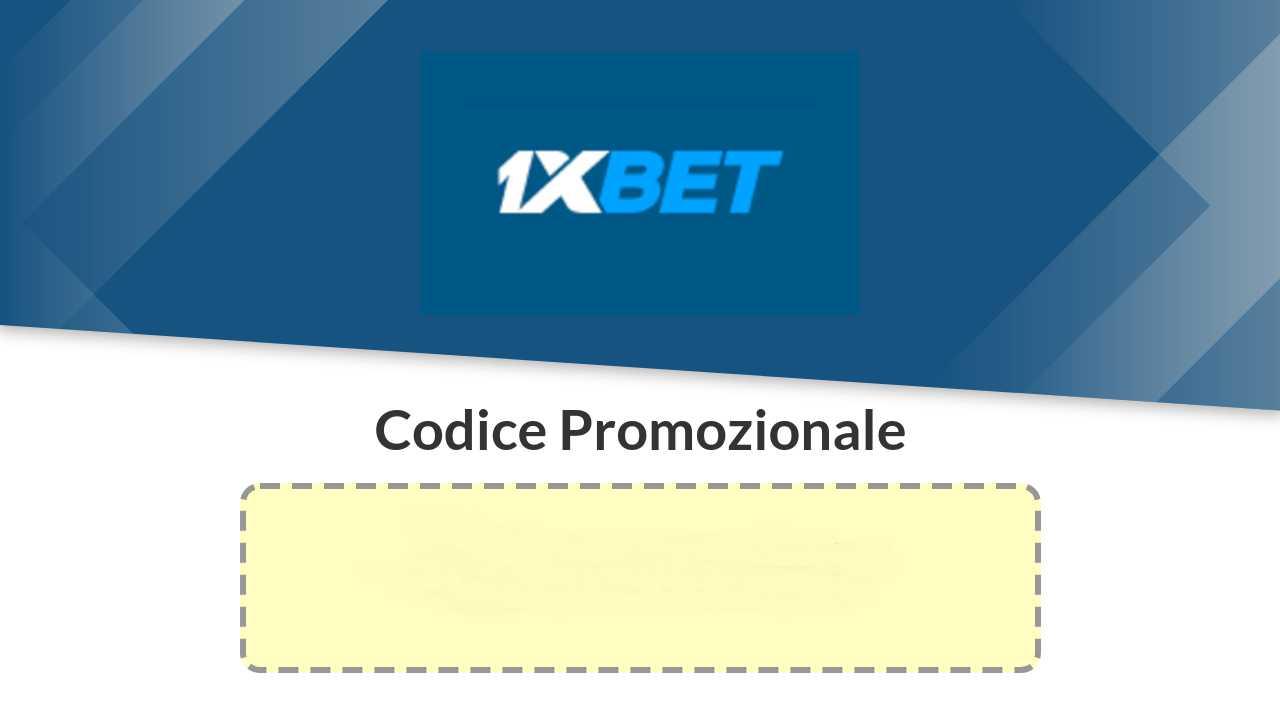 Codice promozionale 1xBet